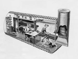 Illustration of Prefab Fallout Shelters, Designed to Be Placed Beneath a Covering of Earth, 1962
