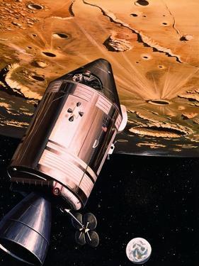 Illustration Showing Apollo 8 in Orbit