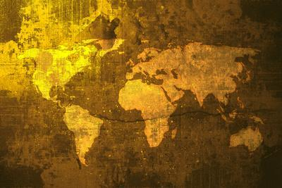 Aged World Map