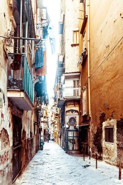 Street View of Old Town in Naples City, Italy Europe by ilolab