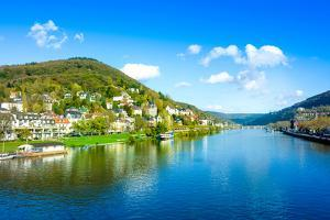 View to Old Town of Heidelberg, Germany by ilolab