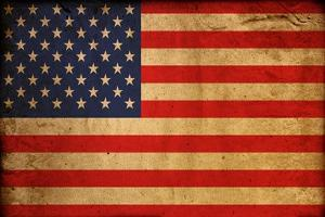 Vintage Flag Of America by ilolab