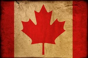 Vintage Flag Of Canada by ilolab
