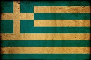 Vintage Flag Of Greece by ilolab