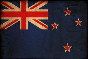 Vintage Flag Of New Zealand by ilolab