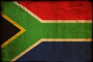 Vintage Flag Of South Africa by ilolab