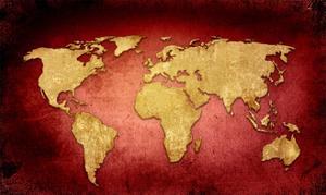 World Map Vintage Artwork by ilolab