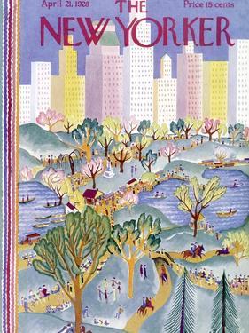 The New Yorker Cover - April 21, 1928 by Ilonka Karasz