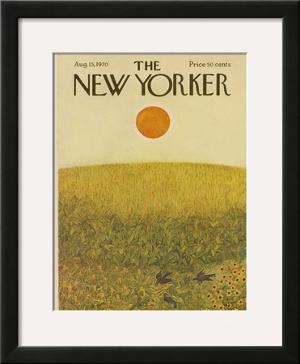 The New Yorker Cover - August 15, 1970 by Ilonka Karasz