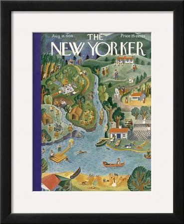 The New Yorker Cover - August 18, 1934 by Ilonka Karasz