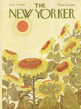The New Yorker Cover - August 24, 1968 by Ilonka Karasz
