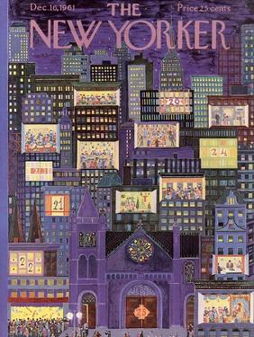 The New Yorker Cover - December 16, 1961 by Ilonka Karasz
