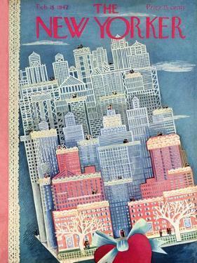 The New Yorker Cover - February 15, 1947 by Ilonka Karasz