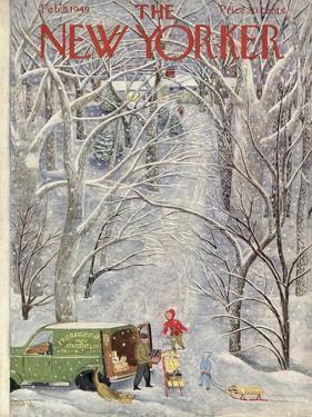 The New Yorker Cover - February 5, 1949 by Ilonka Karasz
