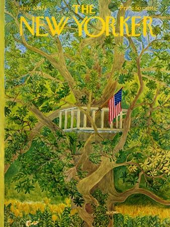 The New Yorker Cover - July 3, 1971 by Ilonka Karasz