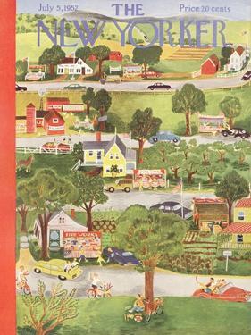 The New Yorker Cover - July 5, 1952 by Ilonka Karasz
