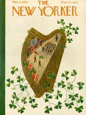 The New Yorker Cover - March 17, 1956 by Ilonka Karasz
