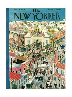 The New Yorker Cover - March 4, 1944 by Ilonka Karasz