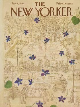 The New Yorker Cover - May 3, 1958 by Ilonka Karasz