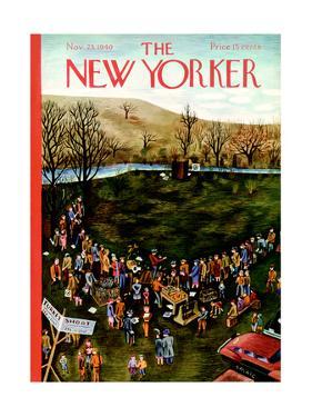 The New Yorker Cover - November 23, 1940 by Ilonka Karasz