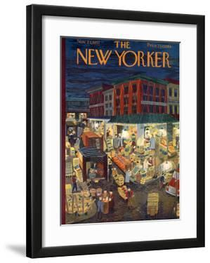 The New Yorker Cover - November 23, 1957 by Ilonka Karasz