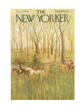 The New Yorker Cover - November 23, 1963 by Ilonka Karasz