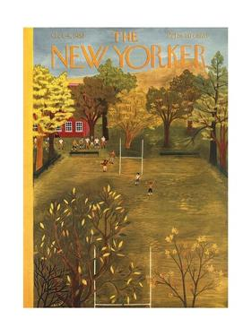 The New Yorker Cover - October 4, 1952 by Ilonka Karasz