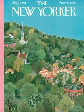 The New Yorker Cover - September 1, 1951 by Ilonka Karasz