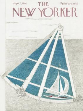 The New Yorker Cover - September 3, 1955 by Ilonka Karasz