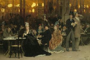A Parisian Cafe, 1875 by Ilya Efimovich Repin