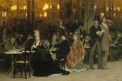 A Parisian Cafe, 1875