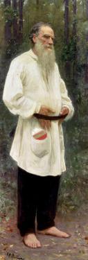 Portrait of Lev Tolstoy (1828-1910) 1901 by Ilya Efimovich Repin