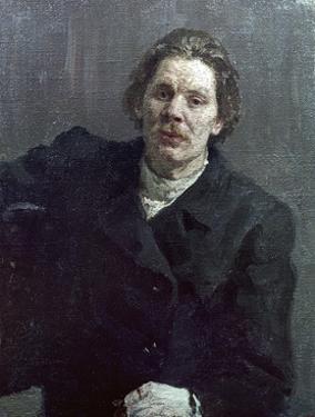 Portrait of Maxim Gorky (Aleksai Maksimovich Peshkov) (1868-1936) 1899 by Ilya Efimovich Repin
