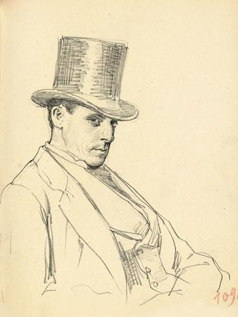 Seated Man with Top Hat, C. 1872-1875