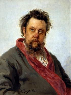 Portrait of M. P. Musorgsky by Ilya Repin