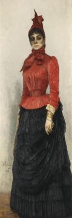 Portrait of Baroness Varvara Ikskul Von Hildenbandt (1850-192), 1889 by Ilya Yefimovich Repin
