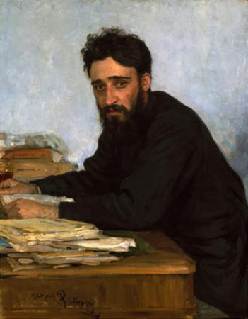 Portrait of the Author Vsevolod M. Garshin (1855-188), 1880S