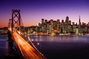 San Francisco Skyline and Bay Bridge at Sunset, California by IM_photo