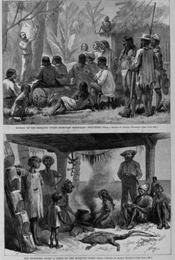 Image #1: Sunday on the Mosquito Coast- Moravian Missionary Preaching. Image #2: the Impending Feas