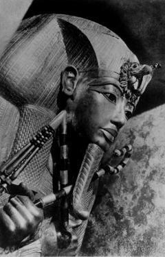 Image of the Head of the Outer Coffin of Tutankhamen, Ancient Egyptian Pharaoh
