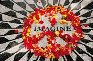 Imagine (John Lennon Memorial) Music Poster Print