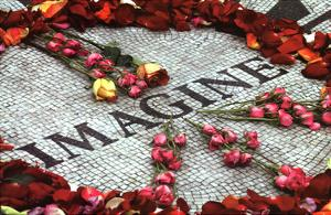 Imagine (Strawberry Fields John Lennon Memorial) Art Poster Print