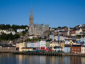 Immigrant Embarkation Harbour, Terraced Houses and St Colman's Cathedral, Cobh, Ireland