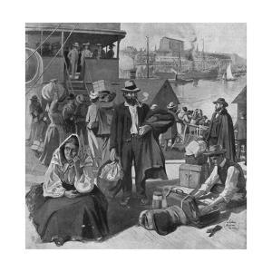 Immigrants Disembarking at Quebec, Canada