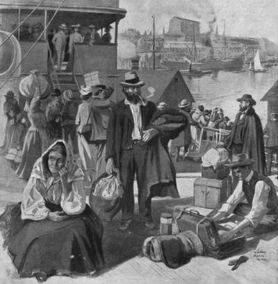 Immigrants Disembarking at Quebec, Canada