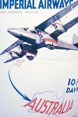 Imperial Airways to Australia Poster