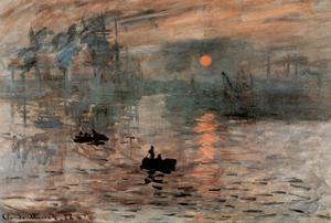Impression Sunrise Claude Monet ART PRINT POSTER boats