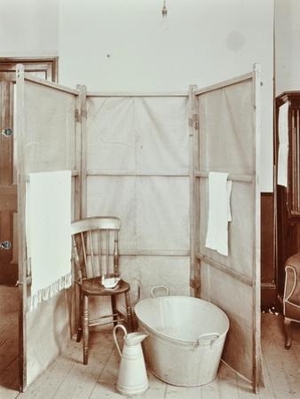 Improvised Bathroom, Shoreditch Technical Institute, London, 1907