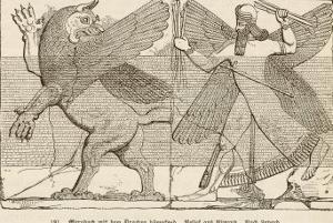 In Ancient Assyria Merodach Does Battle with a Dragon