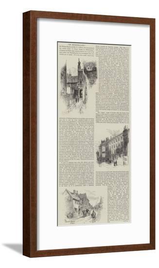 In Dickens-Land-Herbert Railton-Framed Giclee Print